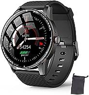Smart Watch for Men, Full Touch Screen Activity Tracker Heart Rate Monitor Smartwatch, impermeável Men Sport W