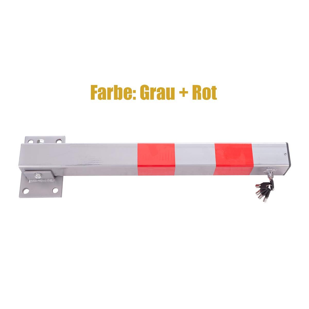 Robust Universell Quadratisch Absperrpfosten mit Warnstreifen Parkplatzsperre Klappbar Parkpfosten mit 3 Schl/üssel 1 St/ück Sperrpfosten aus Stahl