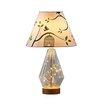 Cclight Suave luz cómoda Lámpara de mesa,Moderno creativa Madera ...