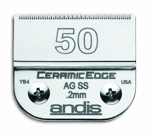 Andis CeramicEdge Carbon-Infused Steel Pet Clipper Blade, Size-50SS, 1/125-Inch Cut Length (64355)