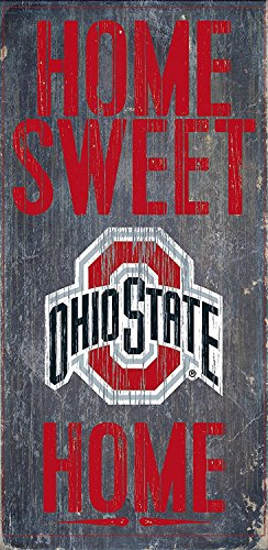 Fan Creations Ohio State Buckeyes Wood Sign - Home Sweet Home 6