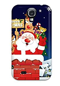 Andters MBOcVIP4270FiXFX Protective Case For Galaxy S4(holiday Christmas)