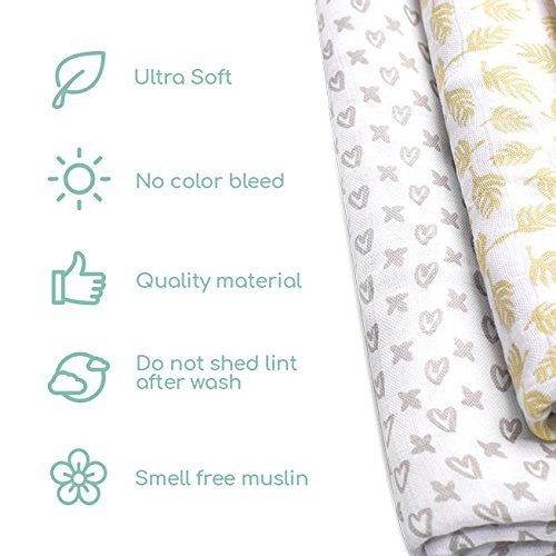 Organic receiving blankets unisex