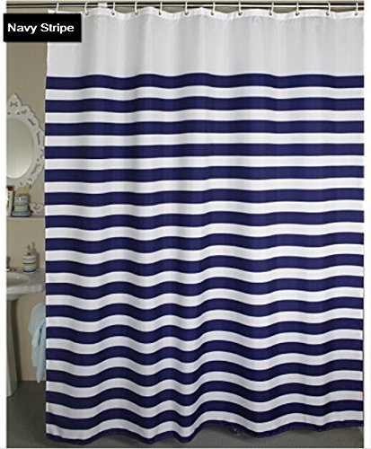 Eforcurtain Nautical Stripes Water Repellent Curtain