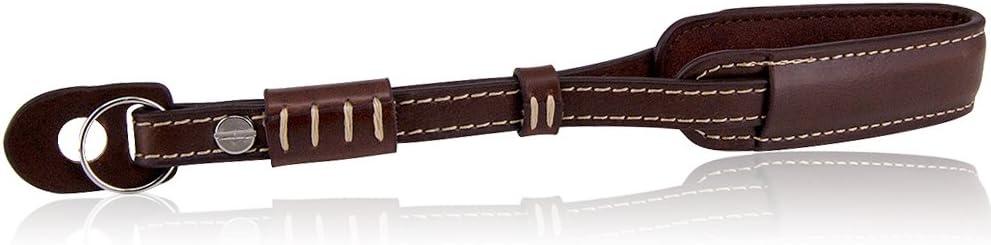 حزام معصم اليد للكاميرا القديمة من Wolven متوافق مع كاميرا DSLR/SLR ، بني