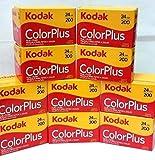 10 Rolls Of Kodak colorplus 200 asa 24 exposure