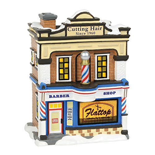(Department 56 Snow Villages Flattop Barbershop)