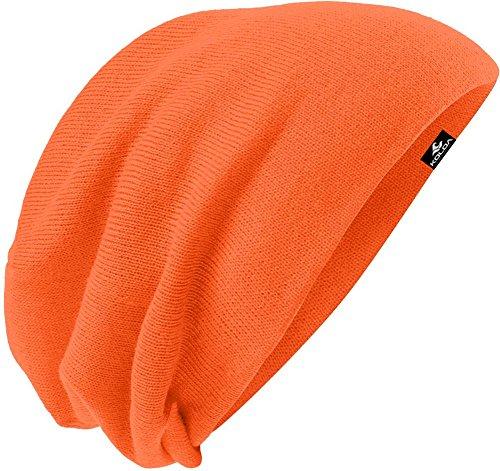 Koloa Surf(tm) Slouchy Beanie Neon Orange, One (Orange Logo Beanie)