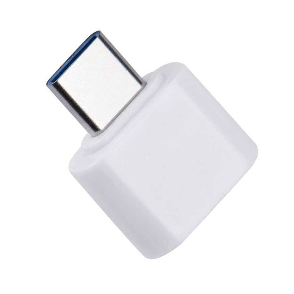Type-C OTG USB 3.1 to USB2.0 Type-A Adapter Connector for Samsung Huawei Phone by Charberry (White)