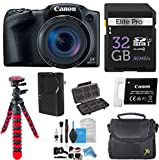 Canon PowerShot SX420 IS w/ 42x Optical Zoom and Built-In Wi-Fi with 32GB High Speed Memory Card + Deluxe Camera Case + Flexible Spider Tripod + DigitalAndMore Starter Kit Deluxe Accessory Bundle