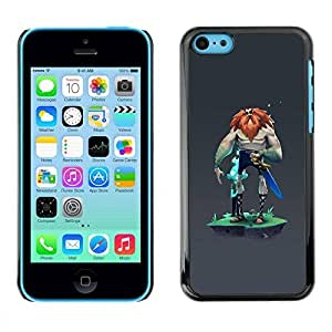LASTONE PHONE CASE / Slim Protector Hard Shell Cover Case for Apple Iphone 5C / Grey Character Man