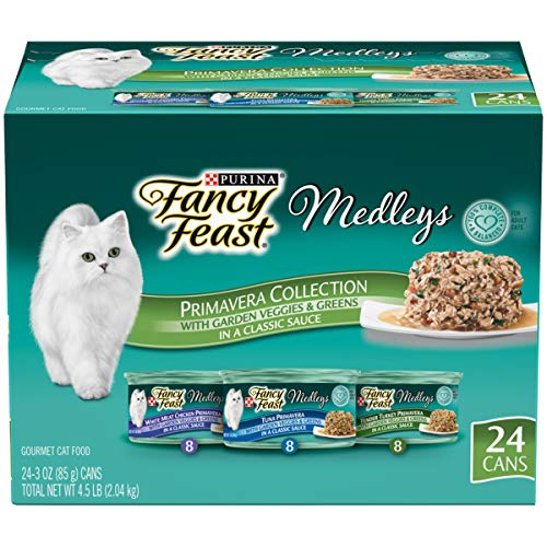 Purina Fancy Feast Gravy Wet Cat Food Variety Pack - Medleys Primavera Collection - (24) 3 oz. Cans
