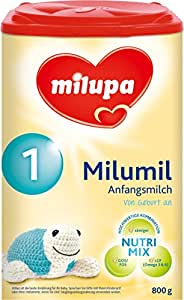Milupa milumil 1 Anfangsmilch, von Geburt an, 4er Pack (4 x 800 g)