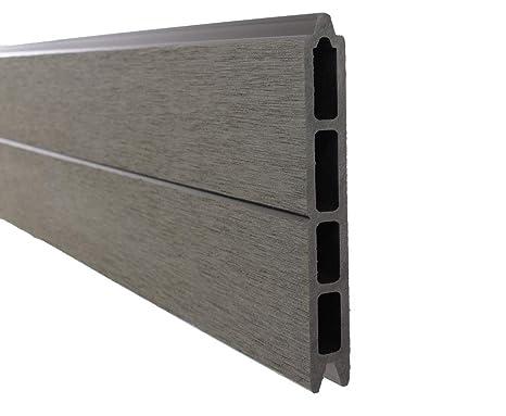 Palissade en wPC anthracite système de réglage, 178 x 183 cm ...
