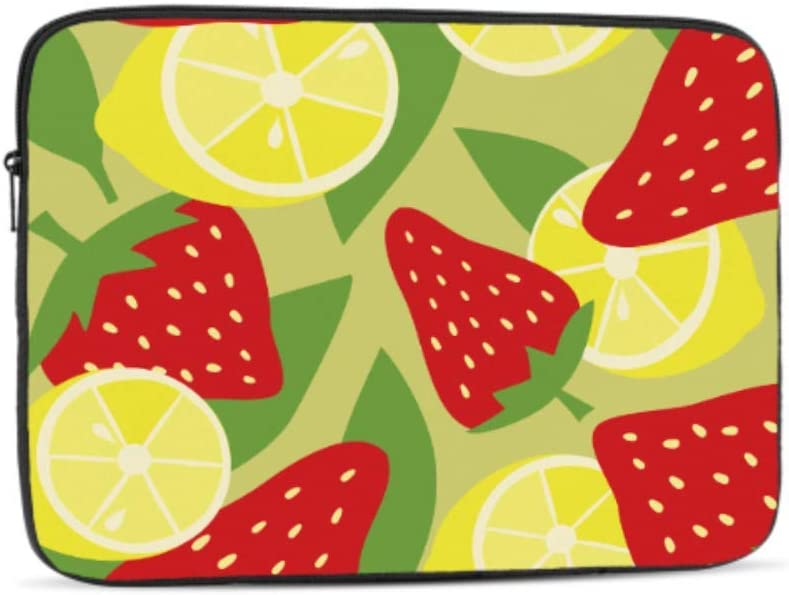 Strawberries Lemons Pattern Neoprene Sleeve Pouch Case Bag for 11.6 Inch Laptop Computer Designed to Fit Any Laptop//Notebook//ultrabook//MacBook with Display Size 11.6 Inches