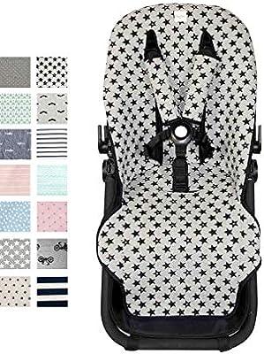 Fundas BCN ® - F125/9399 - Colchoneta para silla de paseo Bugaboo Cameleon ® 3 – Fun Black Star: Amazon.es: Bebé