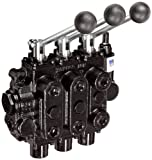Prince 533CCCAAA5A4B1 Directional Control Valve, Monoblock, Cast Iron, 3 Spool, 4 Ways, 3 Positions, Tandem Center, Spring Center to Neutral, Lever Handle, 3000 psi, 25 gpm, In/Out: 3/4'' NPT Female, Work 3/4'' NPT Female