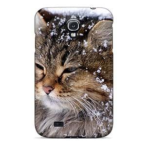 Cute High Quality Galaxy S4 Snow Cat Case