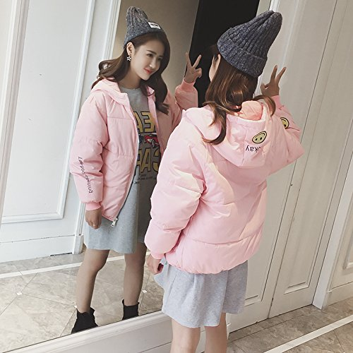 Xuanku Winter Bread To Small Cotton And Cotton Clothing Female Short Paragraph Wild Loose Cotton Clothing Jacket Pink