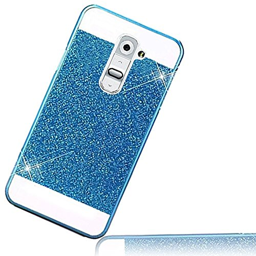 Sunroyal Luxury Hybrid Beautiful Crystal Rhinestone With Silver Sparkle Glitter Hard Protective Diamond Case(Five Colors) for LG G2 (Beautiful Lg G2 Phone Cases)