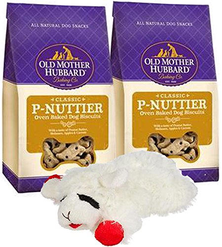 P-nuttier Biscuits - P-Nuttier Small Dog Treats Peanut Butter Dog Biscuits 5 oz. (Pack of 2) Including a Lamb Chop Dog Toy