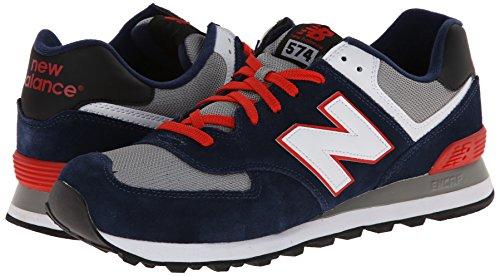 888546363267 - New Balance Men's ML574 Core Plus Classic Running Shoe, Navy/Red/White, 12 D US carousel main 5