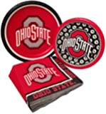 Ohio State Party Supply Pack! Bundle Includes Paper Plates & Napkins for 8 Guests