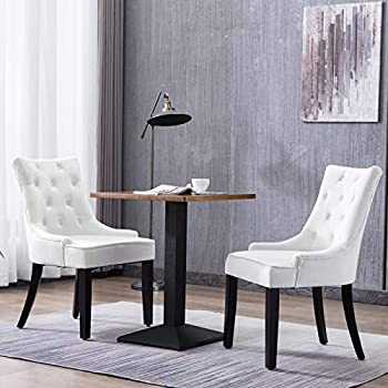 Amazon Com Iconic Home Metzger Dining Side Chair Button