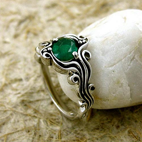 - Endicot 1.6CT Emerald Women Men 925 Silver Ring Gift Wedding Engagement Size 6-10 | Model RNG - 18614 | 10