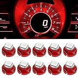 Partsam 10pcs Red T4.7/T5 Neo Wedge HVAC Controls AC Climate Light Bulb 1-5050-SMD LED Bulb Dash Light Lamp for 2003-2011 Dodge Dakota