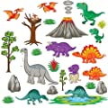 treepenguin Dinosaur Land Wall Decals - Playful Prehistoric Wall Stickers for Nursery and Kids Rooms - Peel and Stick Wall Decor