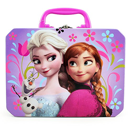 Disney Frozen Elsa, Anna & Olaf Deluxe Purple Tin Lunch Box
