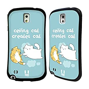Head Case Designs Creation of Cat Ceiling Cat Vs Basement Cat Hybrid Gel Back Case for Samsung Galaxy Note 3 N9000 N9002 N9005