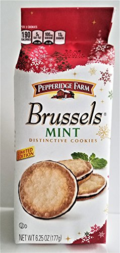 Pepperidge Farm Limited Editon Brussels MINT Distinctive Cookies 6.25oz (U)D (Pepperidge Farm Mint Cookies)