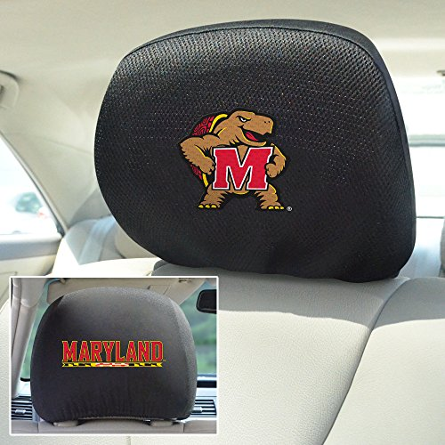 Covers Headrest Ncaa (FANMATS  12580  NCAA University of Maryland Terrapins Polyester Head Rest Cover)