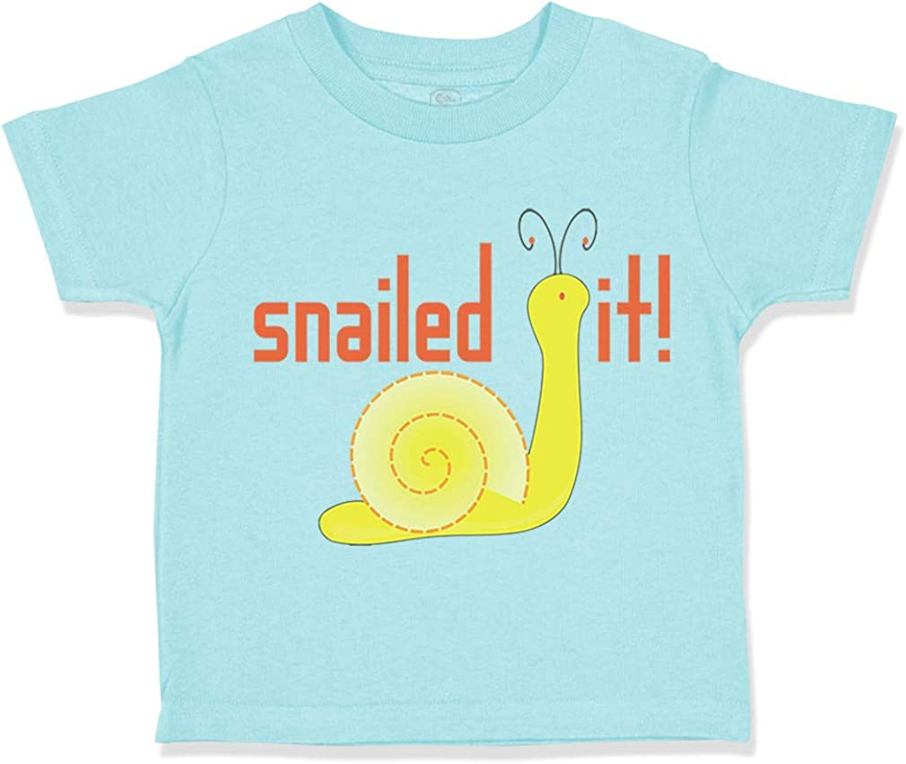Custom Toddler T-Shirt Snailed It Snail Funny Cotton Boy /& Girl Clothes