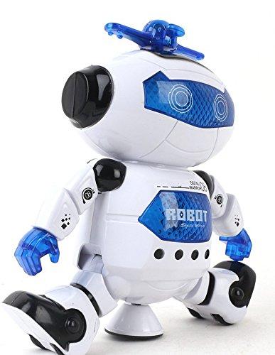 Babrit Kids Electronic Robot Dancing Robot Smart Space Robot Astronaut Music Light Toy