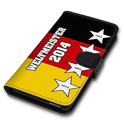 Wallet Book Style Flip Handy Tasche Case Schutz Hülle Schale Motiv Etui für Apple iPhone 4 / 4S - Design Flip MVD328