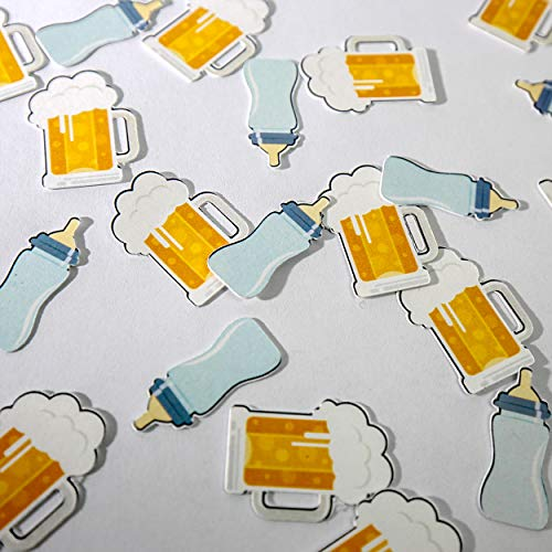 Beer and Bottles Baby is Brewing Baby Shower Decoration - 50 Pieces