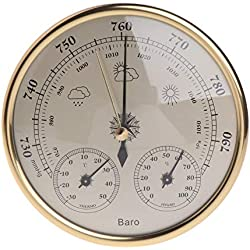 Thermometer Hygrometer - Wall Mounted Household Barometer Thermometer Hygrometer Weather Station Hanging