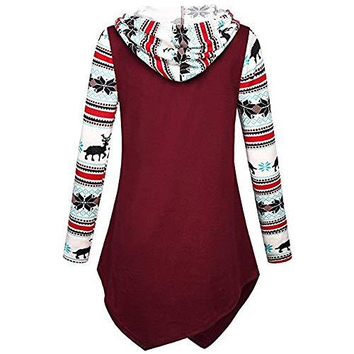 Npradla pour Rosso capuche longues Manteau à manches à femme Rosso décontracté HqwHp8rE