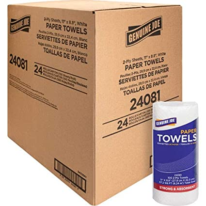 Amazon.com : Genuine Joe 2-ply Household Roll Paper Towels, Sold as 4 Each : Office Products