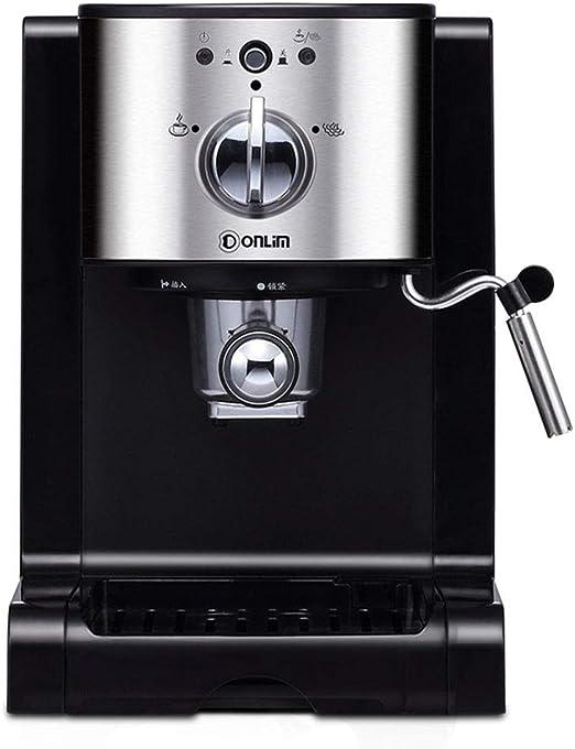GLEI-TK Cafetera cafetera Espresso Cappuccino cafetera con Bomba, Tubo de Vapor, Cappuccino, Inicio-Negro: Amazon.es: Hogar