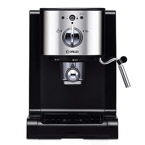 GLEI-TK Cafetera cafetera Espresso Cappuccino cafetera con Bomba, Tubo de Vapor, Cappuccino