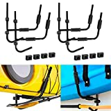 Tengchang Kayak Storage Rack Wall Mount Hanger Set of 2Pairs