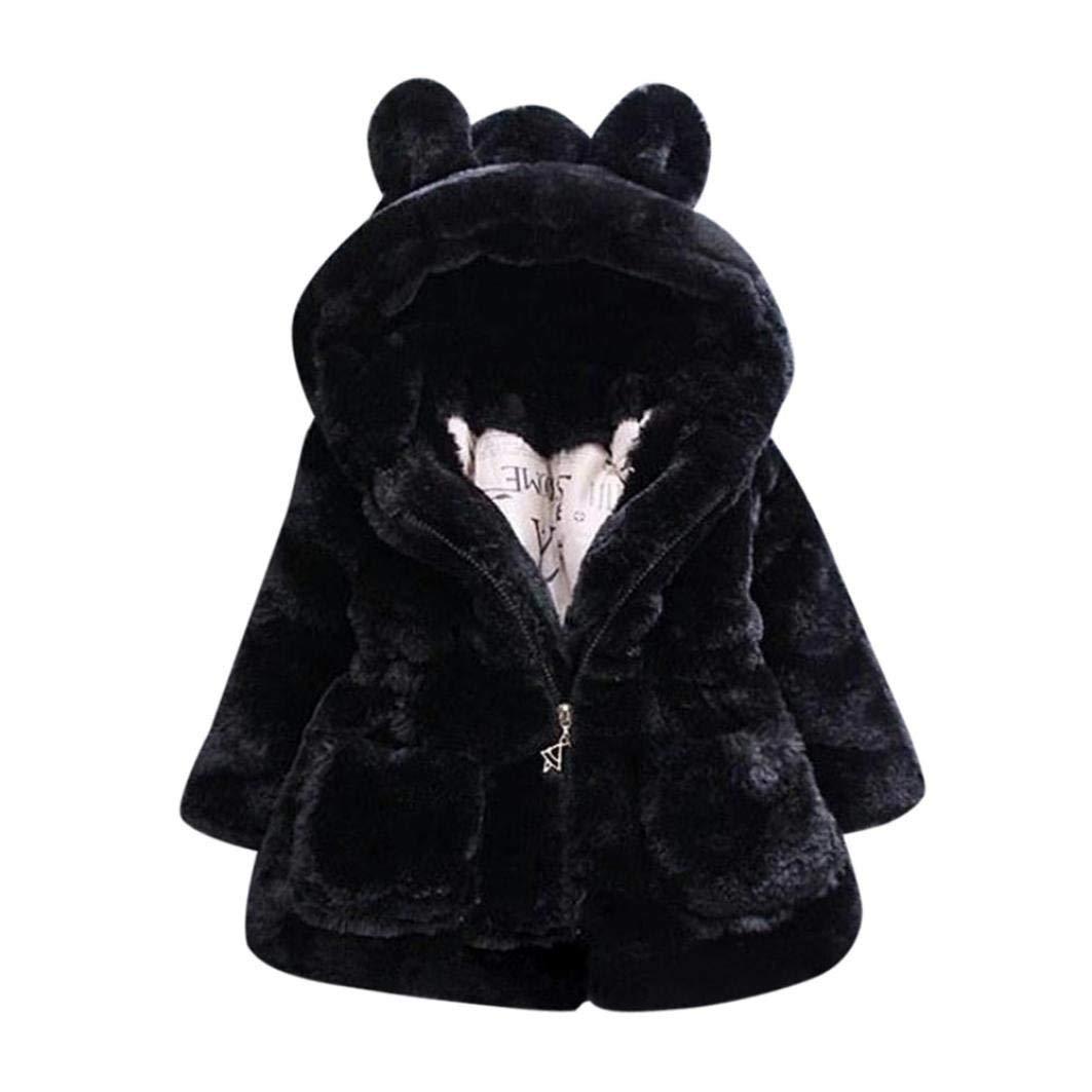 Vêtements Manteau à Capuche Bébé Fille Hiver Chaud Fourure