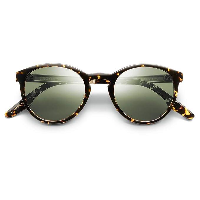Amazon.com: Gafas de sol IVI con marco de tortise de ámbar ...