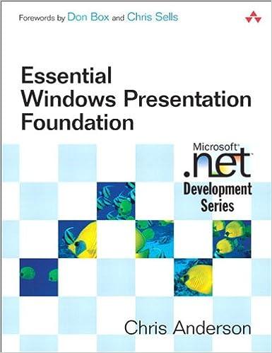 Essential Windows Presentation Foundation Wpf 1 Anderson Chris Ebook Amazon Com