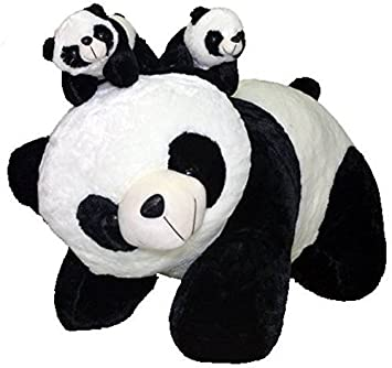 Deals India Fat standing mother Panda with two Baby panda (45cm)
