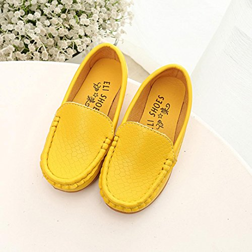 OverDose Jungen Bootsschuhe, Kinder Schuhe Casual Sneakers Schuhe Jungen Sport Schuhe Casual Sneakers Bootsschuhe (Größe 21-30) Gelb